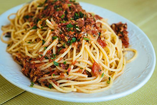 Ristorante Da Vittorio: spaghetti ai ricci di mare