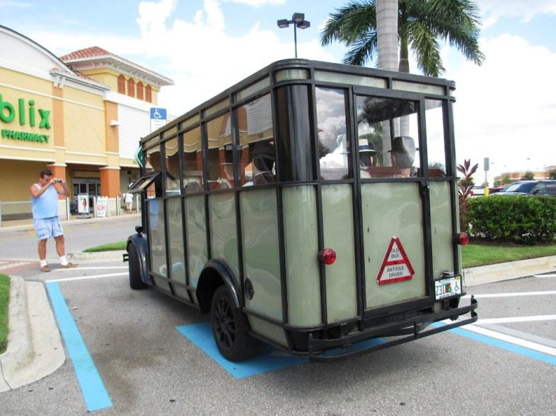 A Publix Shopper Snaps a Photo of the Antique Bus, Aug. 2, 2014