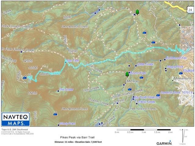 Barr Trail Map