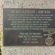 A war Memorial for a crashed Bomber during WW2 at The Crags Victoria.