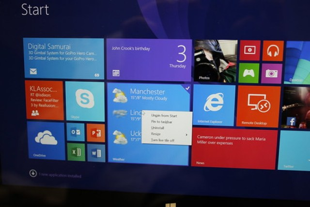 Windows 8.1 Update on a Surface 2