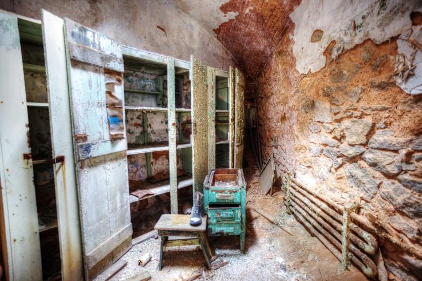 Guards locker room, Eastern State Penitentiary.