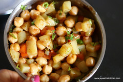 Aloo-channa -chaat
