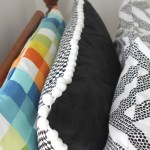 A Zippered Quilted Two Sided Pom Pom Trimmed Pillow Sham The Homes I Have Made