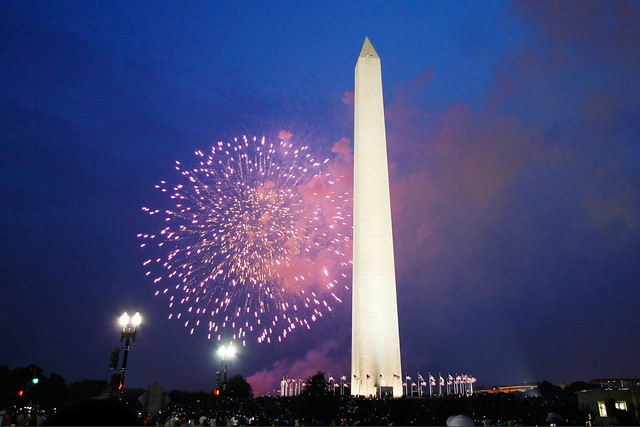 Fireworks on the National Mall, Washington DC. - 4th of July Wasshington DC