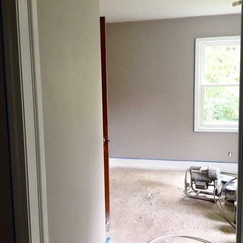Master bedroom has one coat of paint! #34thStProject