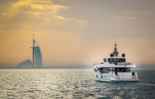 The recently launched Majesty 100 outside of Dubai. _________ #GulfCraft #MajestyYachts #Majesty100  _________ #superyacht #boating #Famous #friends #design #boatlife #yacht #yachting #people #nature #live #love #rich #famous #lifestyle #exclusive #vip #d