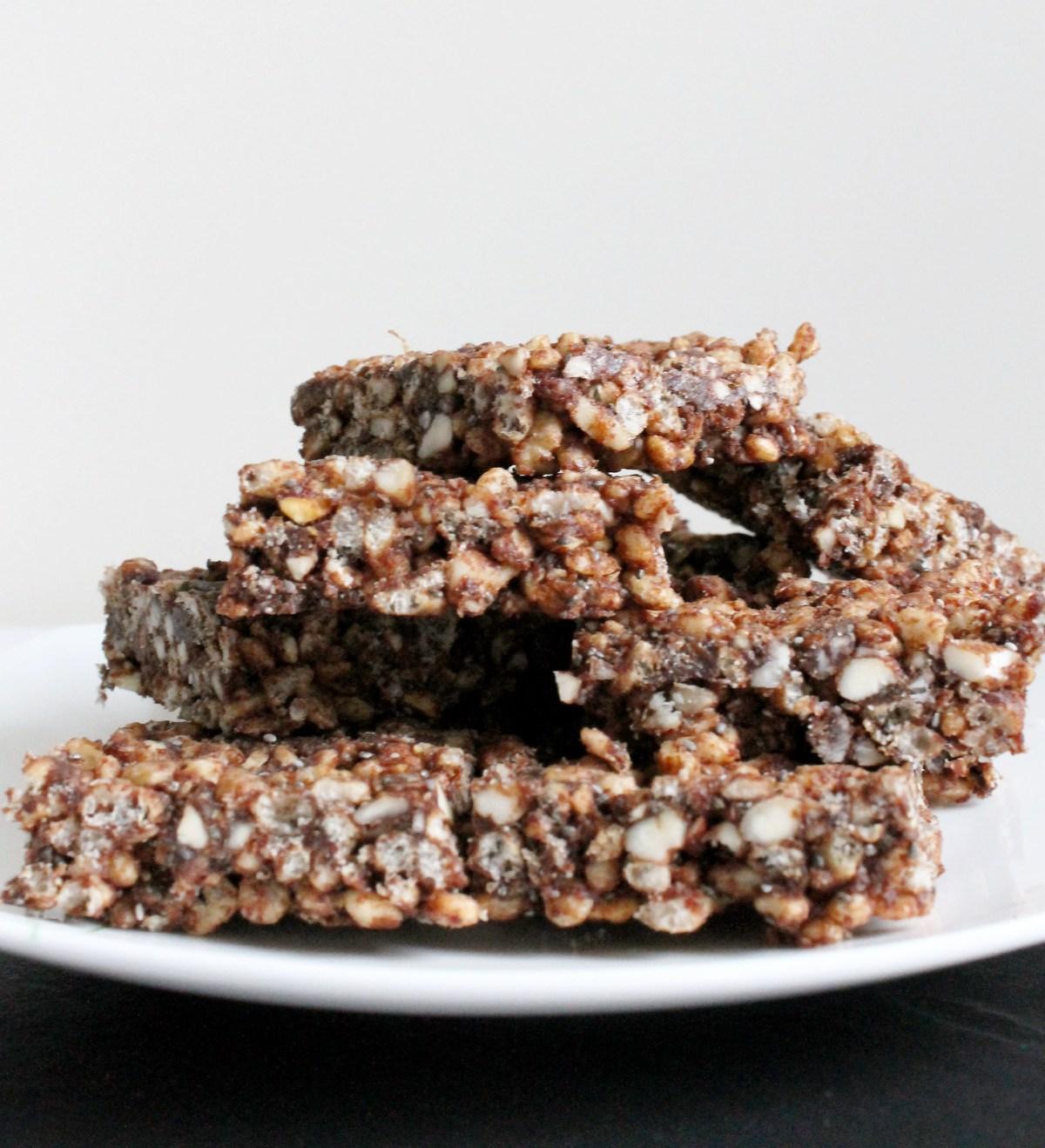 nutty rice krispie treats