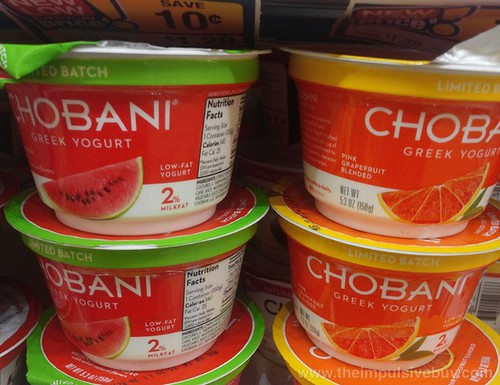 Chobani Limited Batch Watermelon and Pink Grapefruit Greek Yogurt