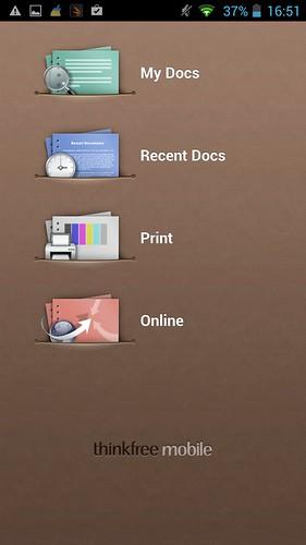 ThinkOffice Free บน i-mobile IQX Octo