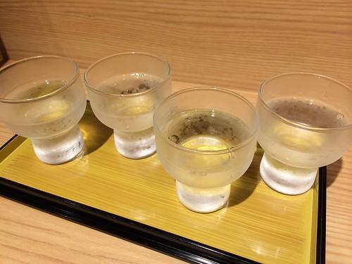 喜多屋の蒼田シリーズ 4種利き酒セット @そら