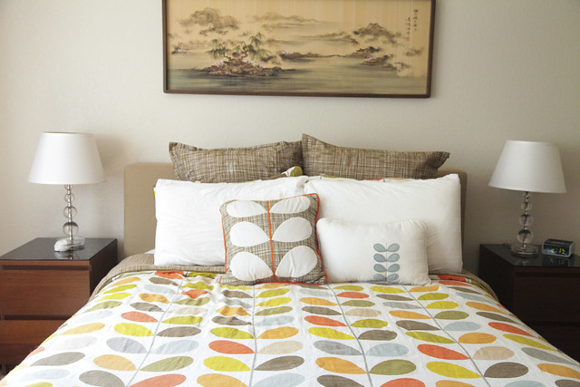 Bed in the Master Bedroom