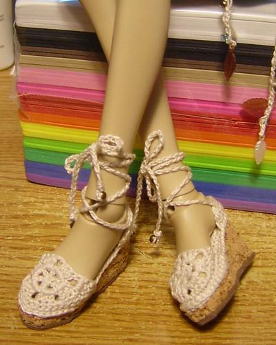 Crochet Lace Sandal Wedges