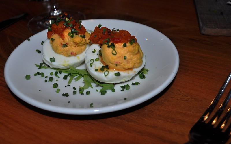 Deviled Farmhouse Eggs -  The River and Rail Restaurant, Roanoke, Va., April 2014 #OldSchoolVA #LoveVA