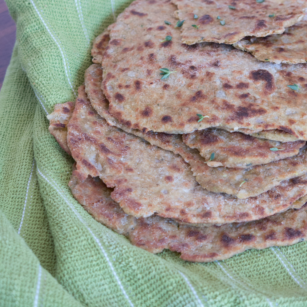 Zucchini and Thyme Flatbreads | www.infinebalance.com #vegan #recipe