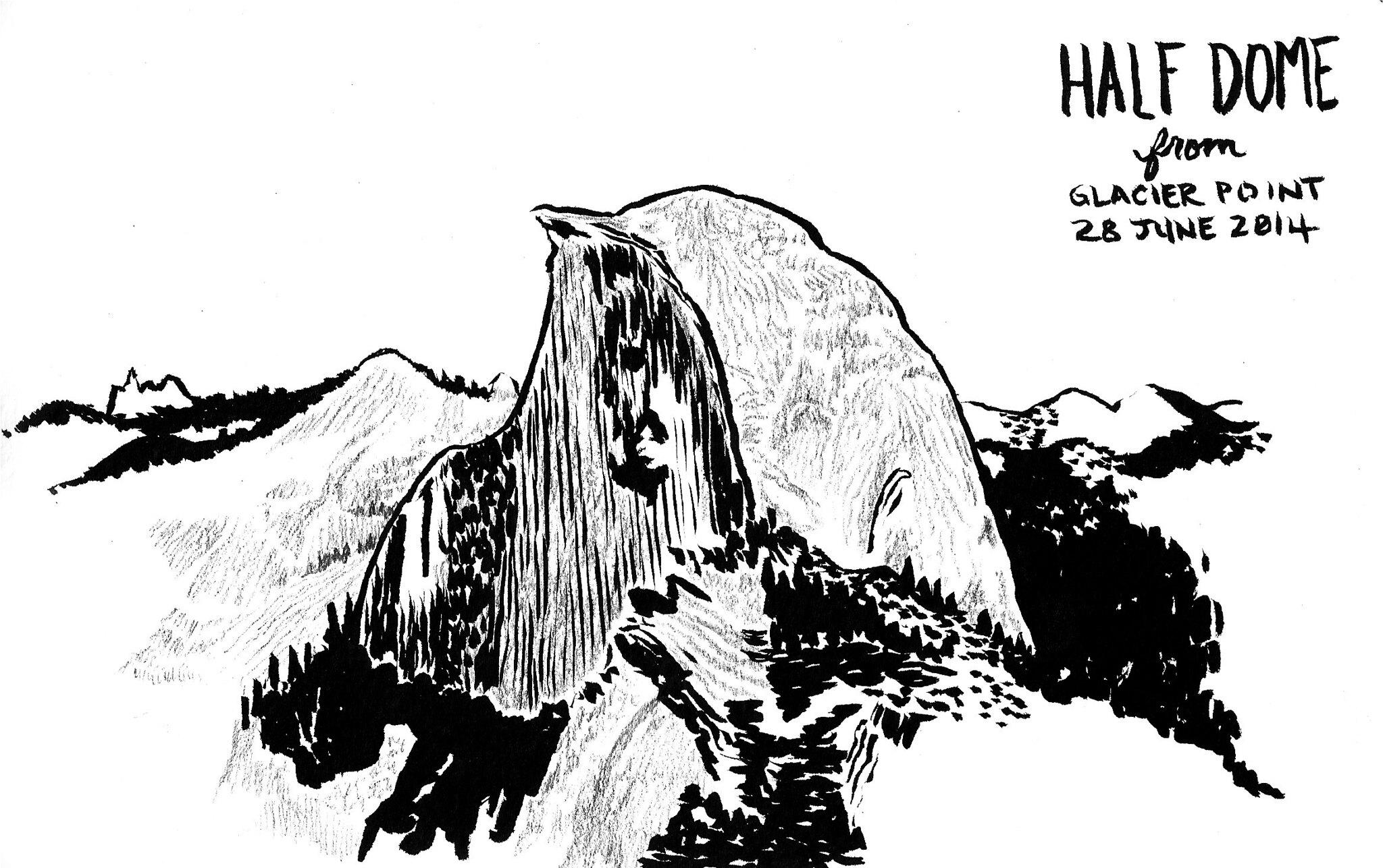 Yosemite Half Dome Drawing Flickr