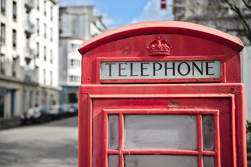 Telephone booth at Brest !