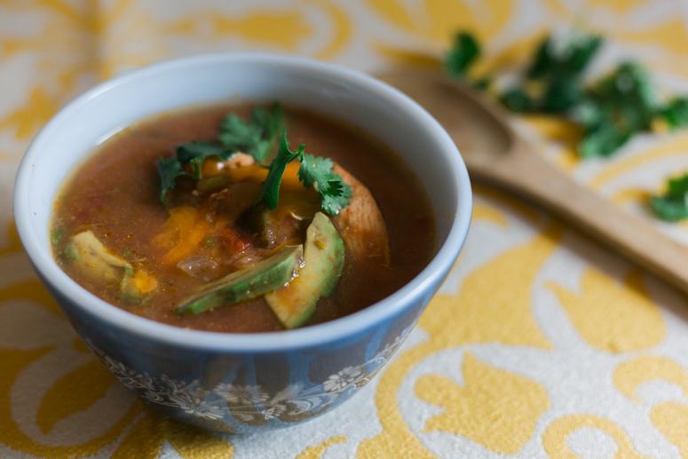paleo crockpot tortilla soup