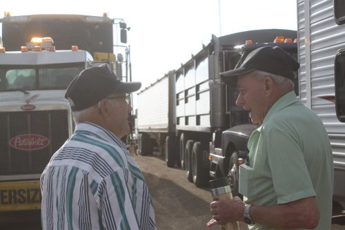 The Grandpas, bonding over harvest memories.