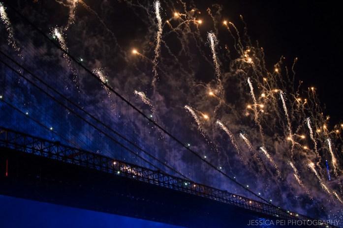 Fourth of July Fireworks Off Brooklyn Bridge