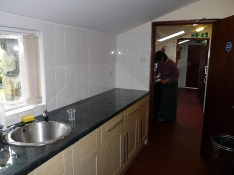 Kitchen are of the bunkhouse