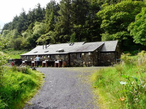 Only Jeremy can photo bomb the bunkhouse, Snowdon base camp
