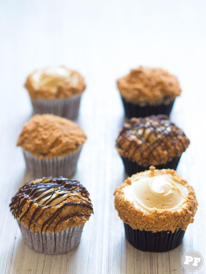 Cupcake de Manteiga de Amendoim e Paçoca via PratoFundo.com