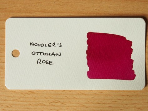 Noodler's Ottoman Rose - Word Card - Ink Review