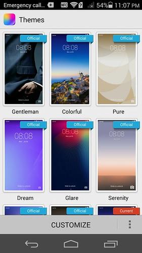 สามารถเปลี่ยนธีมของ Huawei Ascend P7 ได้ง่ายมาก