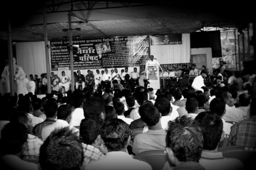 Crowd gathered at conference at Ramabai Nagar to reminiscence the 17th year of the incidence.
