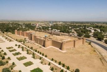 Vlakbij Kulob heb je alweer een fort, het Khulbuk fort cq. paleis.