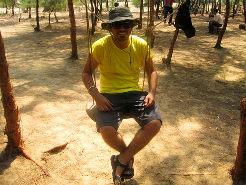 Swinging at the Apsarakonda Beach