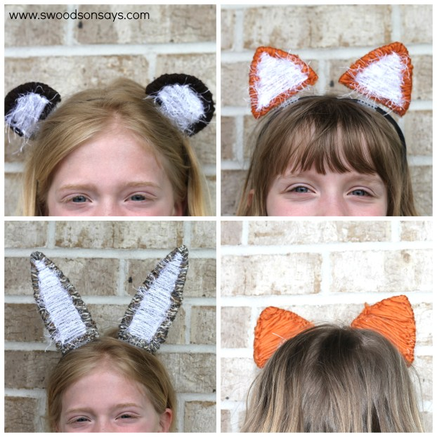DIY Interchangeable Animal Ear Headband - swoodson Says