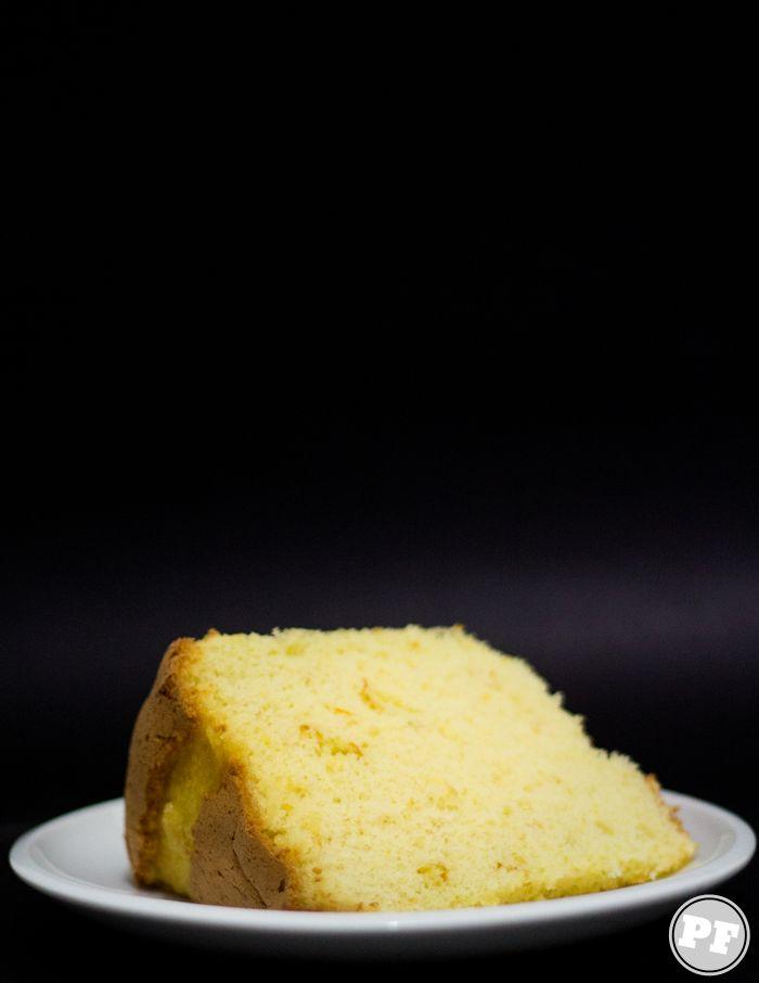 Chiffon Cake de Cítricos Amarelos via PratoFundo.com