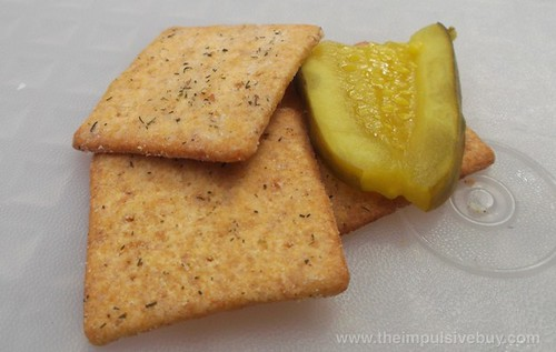 Nabisco Limited Edition Dill Pickle Wheat Thins Closeup