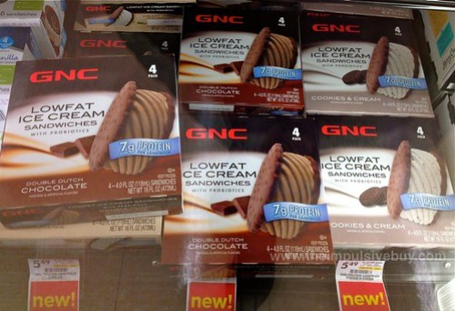 GNC Lowfat Ice Cream Sandwiches with Probiotics