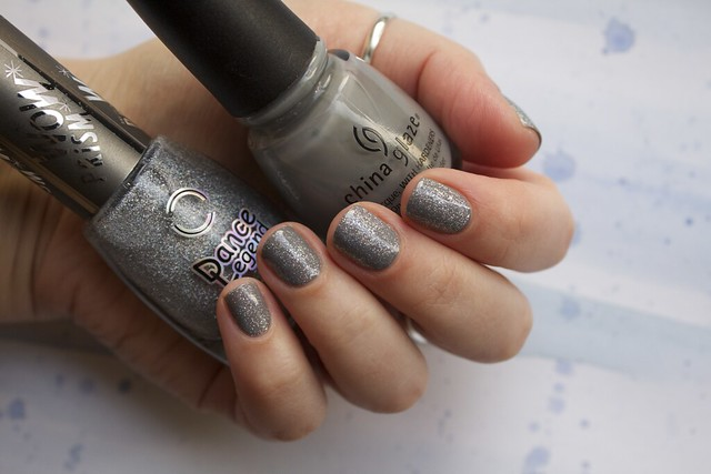 01 China Glaze Recycle + Dance Legend Steel Panther