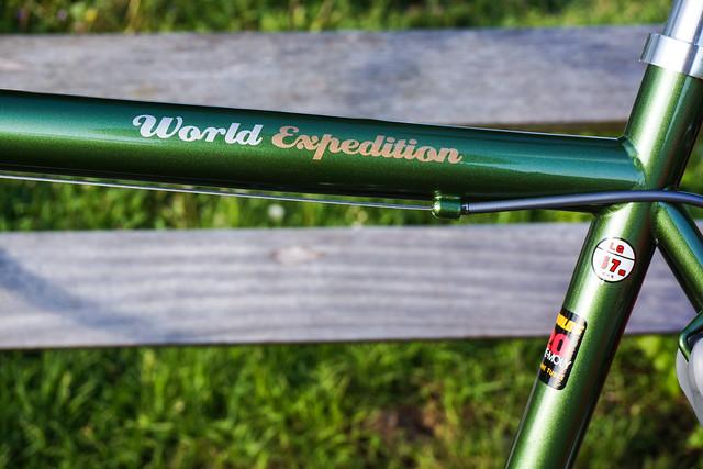 Ridgeback Expedition: top tube decals