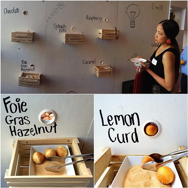 Interesting wall interactive display to serve baked bread with flavors like Foie Gras Hazelnut. #diASIAtourism #DIABKK #travel #AmazingThailand