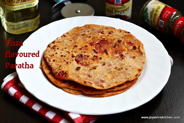 Pizza-flavored -paratha