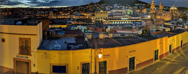 Nighttime view of Zacatecas
