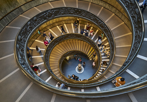 Stairs Vatican, Italy