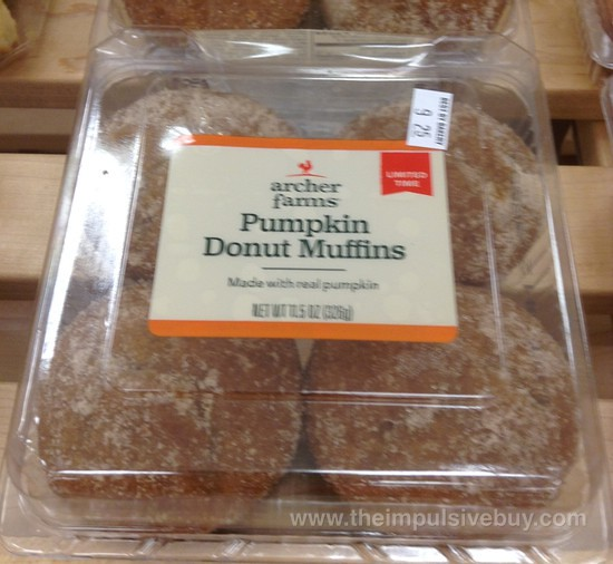 Archer Farms Limited Time Pumpkin Donut Muffins