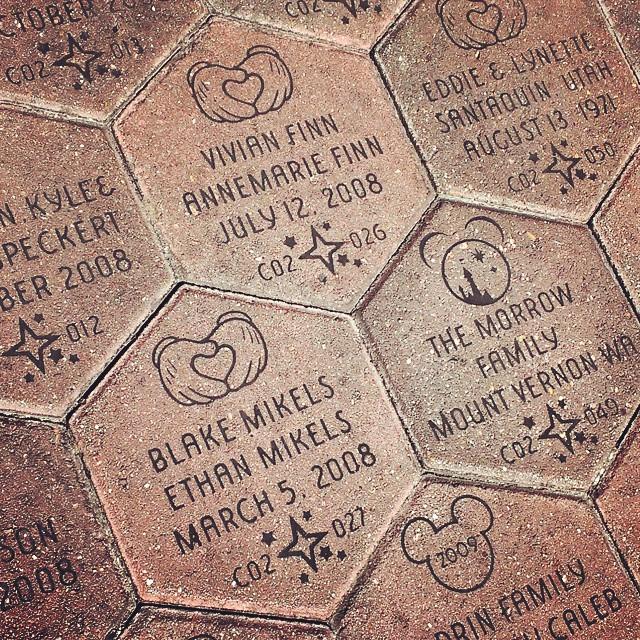 Visiting our bricks at Disneyland! #mickeyshalloween #homeschool #Disneyland