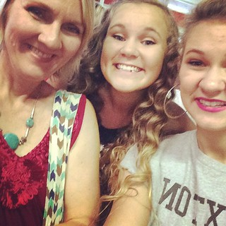 With my girls at the One Direction concert #1DAtlanta #5SOS #OneDirection