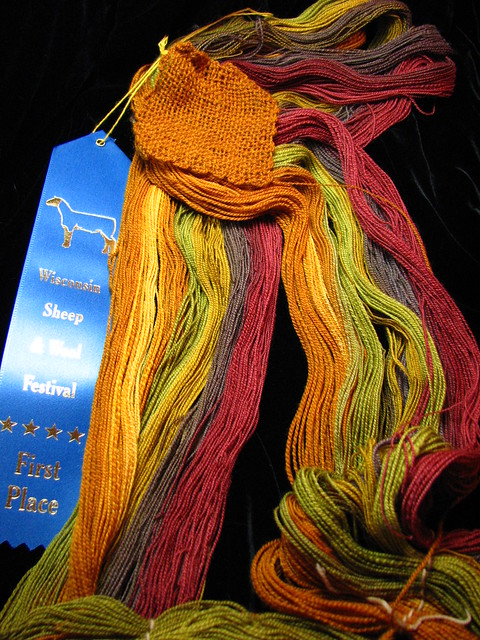 Autumn Splendor Polwarth Hand Spun