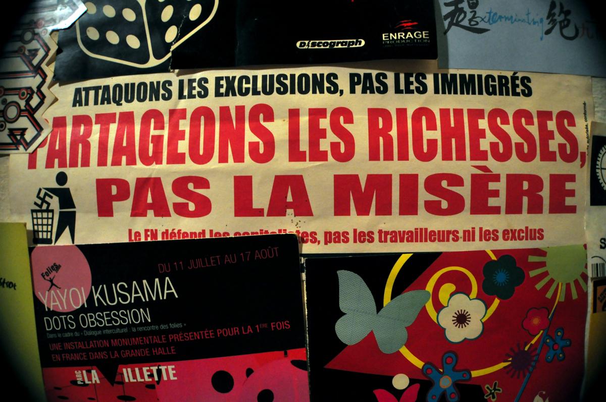 PARTAGEONS LES RICHESSES PAS LA MISÈRE