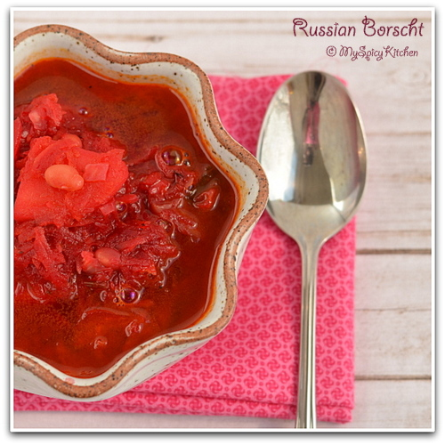 Beets Soup, Russian Soup, Ukrainian Soup