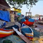 India - Maharashtra - Mumbai - Fishing Boats.