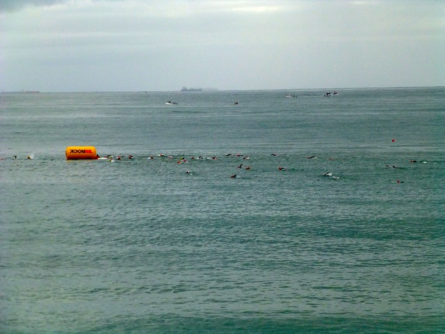 Swimming to the first buoy